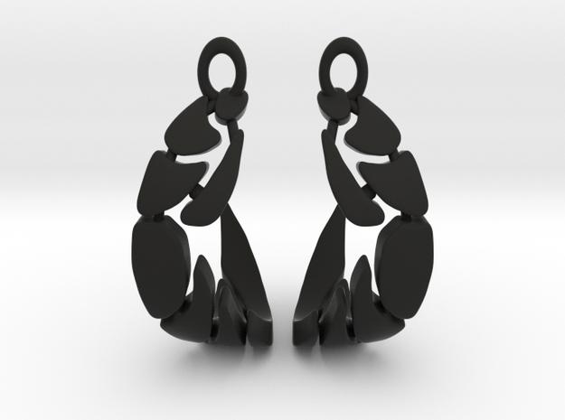 Bones Earrings Set (circles) in Black Natural Versatile Plastic