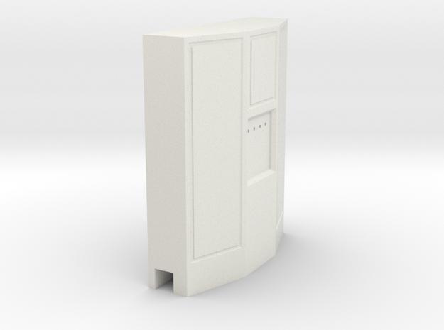 Skaptilpipe3,5x3,5mm. in White Natural Versatile Plastic