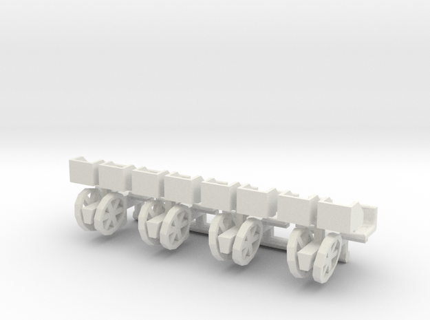 1/64 Transplanter with plant bins, set of 4 in White Strong & Flexible