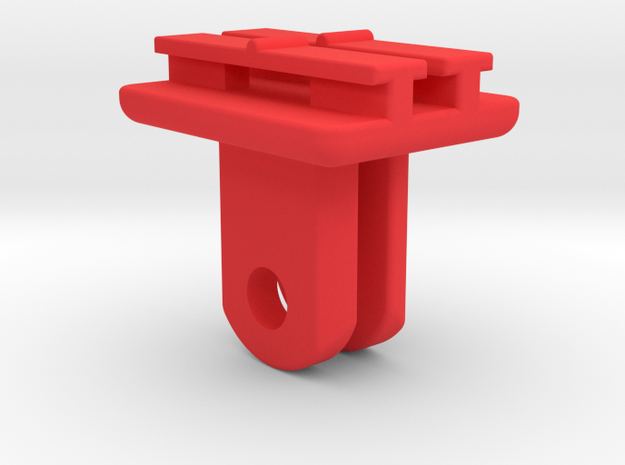 Contour to GoPro Inline Mount in Red Processed Versatile Plastic