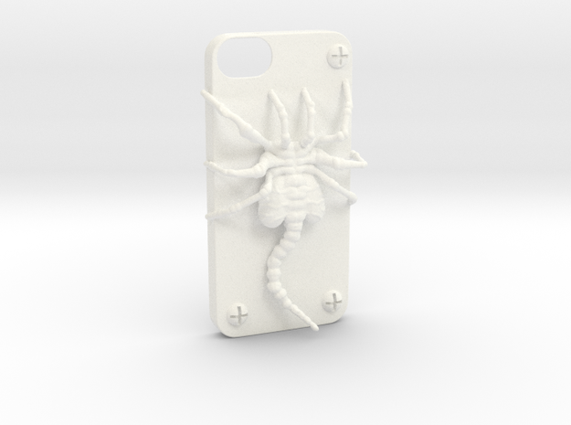 Iphone 5 Casehugger   in White Processed Versatile Plastic