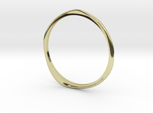 """Ring 'Curves' - 16.5cm / 0.65"""" - Size 6 in 18k Gold"""