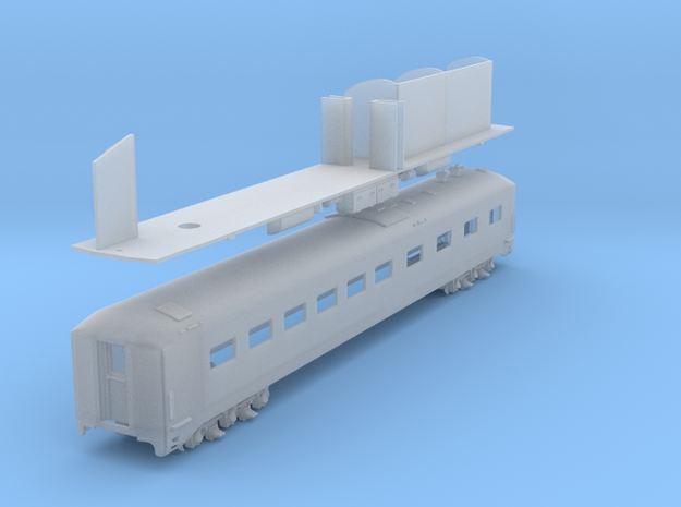 D&H Dining Car #151 (1/160) in Smooth Fine Detail Plastic