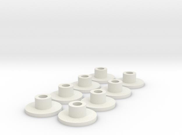 Anti-jello-inserts in White Natural Versatile Plastic