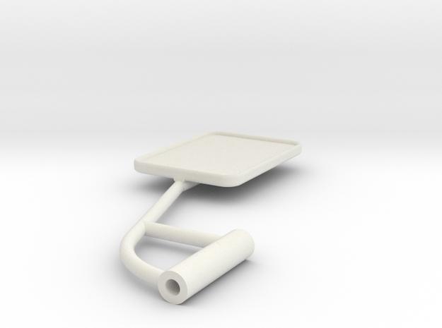 Unimog U401 Spiegel Links 1:10 in White Strong & Flexible