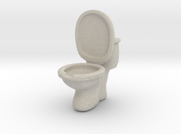 Toilet ashtray(removable tank cover) in Sandstone