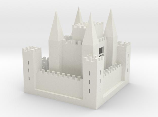 Mideval Europe Castle in White Strong & Flexible