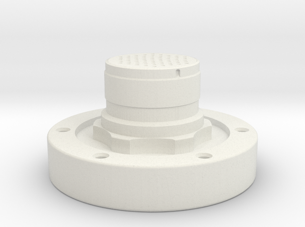 Apollo Scaled Electrical Connector for Revell Man  in White Natural Versatile Plastic