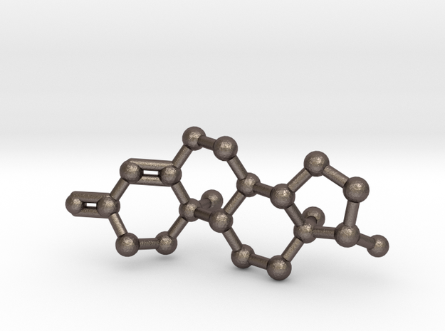 Testosterone (male sex hormone) Molecule Keychain 3d printed