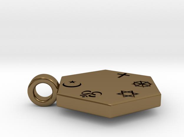 Statement for Peace: Muslim pendant 3d printed