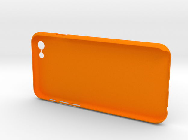 Simple 3 walls iPhone6 case for 4.7inch in Orange Processed Versatile Plastic