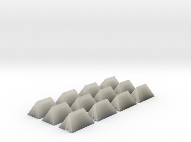 12 Small Tents for 6mm, 1/300 or 1/285 3d printed