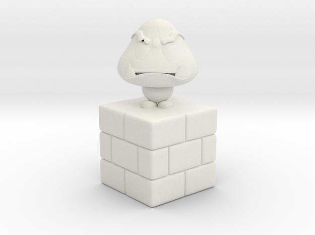 Goomba-Goomba in White Natural Versatile Plastic