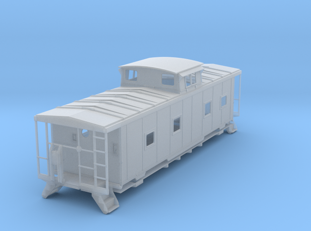 ACL M5 Caboose, split window, no roofwalk - HO in Frosted Ultra Detail