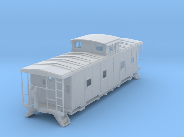 ACL M5 Caboose, split window, no roofwalk - O in Smooth Fine Detail Plastic