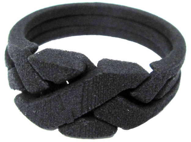 Threesome Ring in Black Strong & Flexible