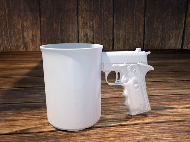 Gun Mug 3d printed