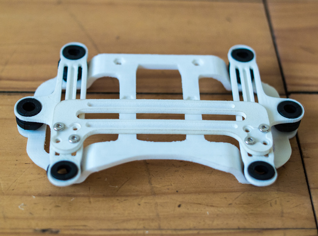 DJI Phantom 2 Universal Camera Mount in White Natural Versatile Plastic