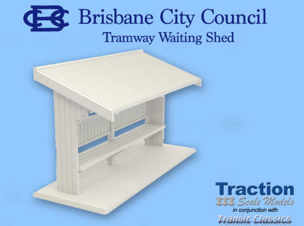 Brisbane Tram Shelter O scale 1:43