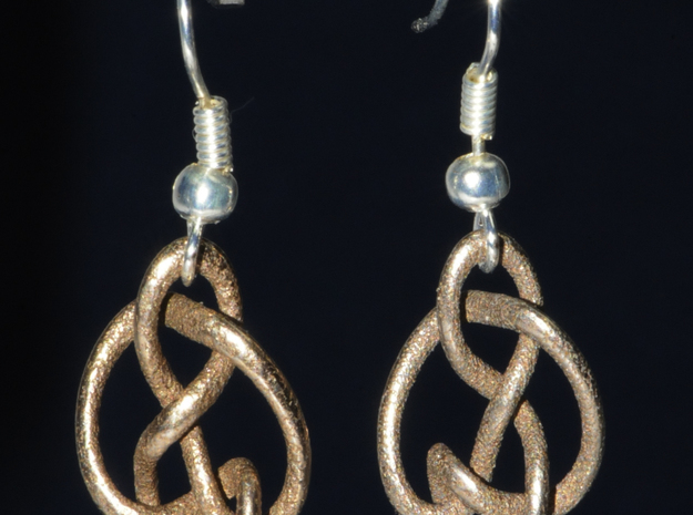 knot 2 - 18 mm in Polished Bronzed Silver Steel
