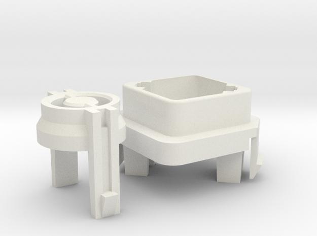 Key-Stem for Commodore SX-64 in White Natural Versatile Plastic