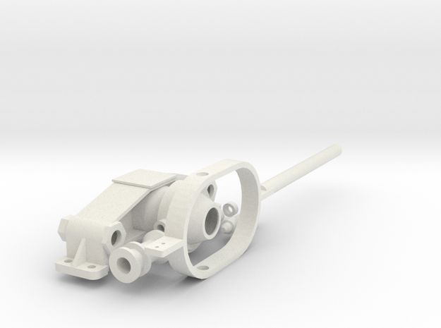 Schalthebel für Kromhout Motor 1/6 in White Strong & Flexible