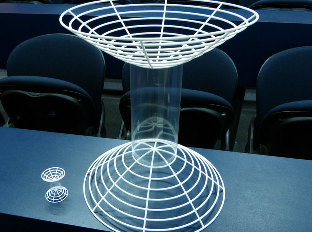 Hyperboloid of two sheets 3d printed Size comparision with the hyperboloid of two sheets from the small set