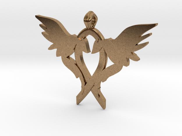 L.O.V.E. pendant regular size in Raw Brass