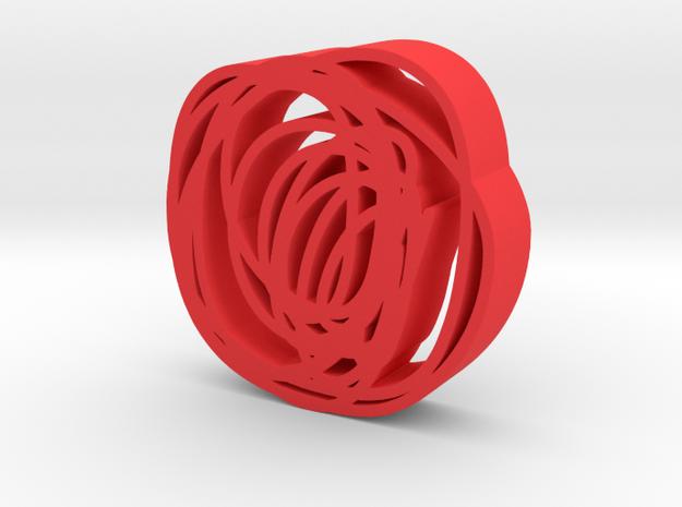 Round doodles in Red Processed Versatile Plastic