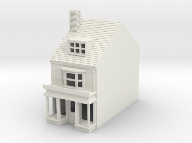 HHS-8 N Scale Honiton High street building 1:148 in White Natural Versatile Plastic