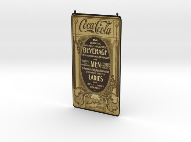Coca Cola Vintage Ad in White Natural Versatile Plastic