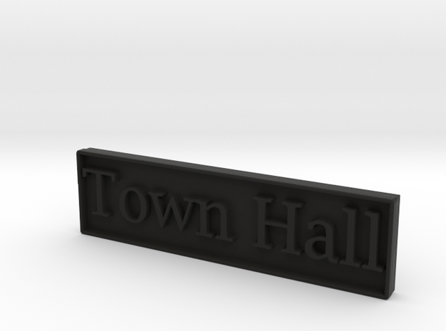 1:24 Town Hall Sign 3d printed