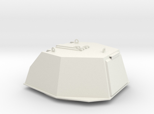 turret DShKM-2BU Articulated Part A Scale 1:16 in White Natural Versatile Plastic
