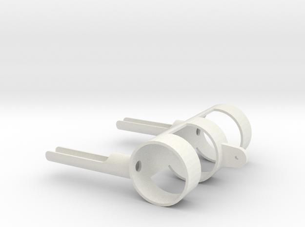turret DShKM-2BU Articulated Part B Scale 1:16 in White Natural Versatile Plastic