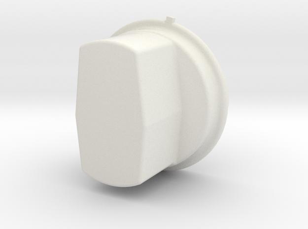 A single Thinner Extended Silverado headlight cap in White Natural Versatile Plastic