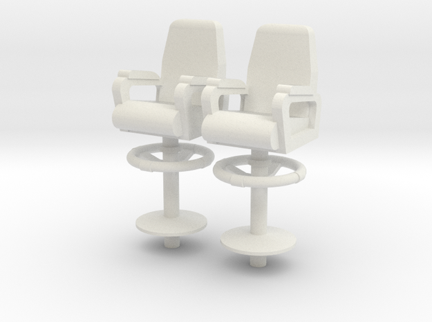 1:48 scale Ship Capt Chair in White Natural Versatile Plastic