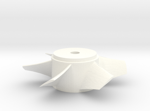 Ducted Fan 90mm rotor right turn in White Strong & Flexible Polished