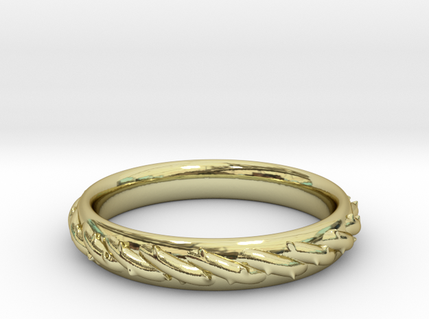 Ring with barbed wire in 18k Gold Plated