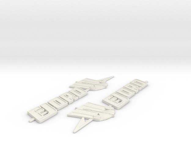 Fjord Boat Badge  in White Natural Versatile Plastic