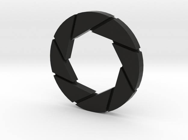 Aperture Logo in Black Natural Versatile Plastic