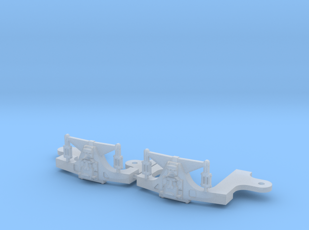 Hodges S scale trailing truck in Smooth Fine Detail Plastic