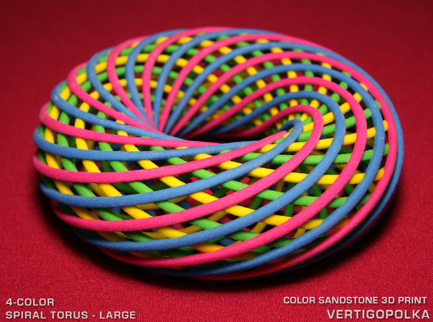 4-Color Spiral Torus LG in Full Color Sandstone