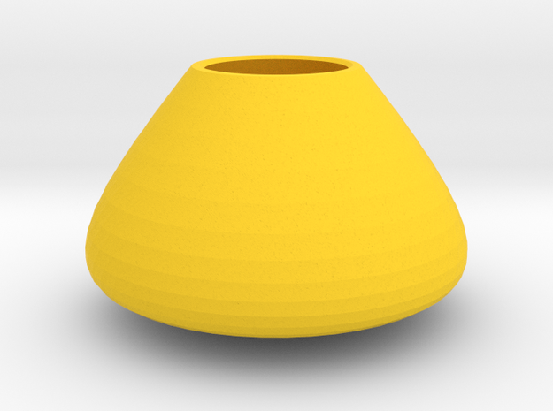 Bulky vase in Yellow Processed Versatile Plastic