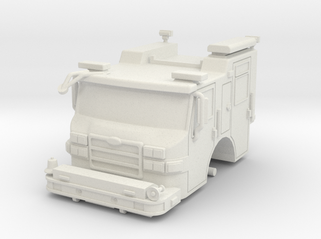 Vehicle-016-cab-hollow 1-64 in White Natural Versatile Plastic