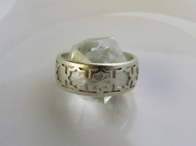 Ring Of Eights in Raw Silver