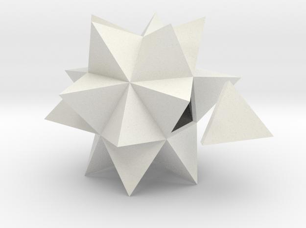 Ycocedron Elevatus Solidus in White Natural Versatile Plastic