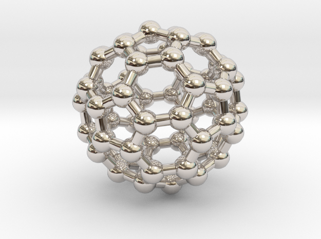 Fullerene C60 in Rhodium Plated Brass