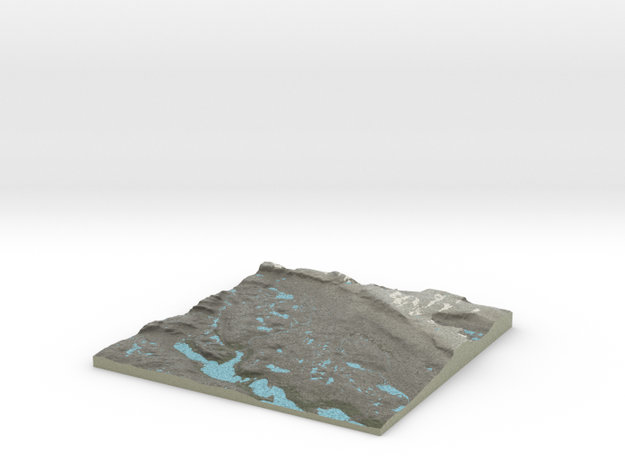 Terrafab generated model Mon Mar 23 2015 09:39:50  in Full Color Sandstone