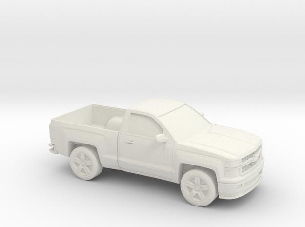 1/87 2015 Chevrolet Silverado Single Cab in White Natural Versatile Plastic