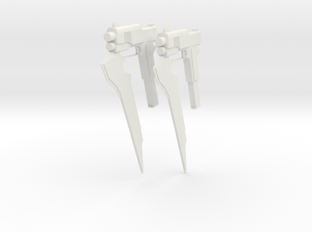 RWBY Stormflower - Duel Pair in White Natural Versatile Plastic
